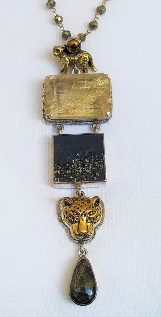 Amy Kahn Russell Fabulous Safari Pendant Necklace