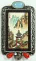 Amy Kahn Russell Asian Landscape Pin-Pendant