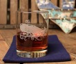Etched Whale 14 oz. Double Old Fashioned