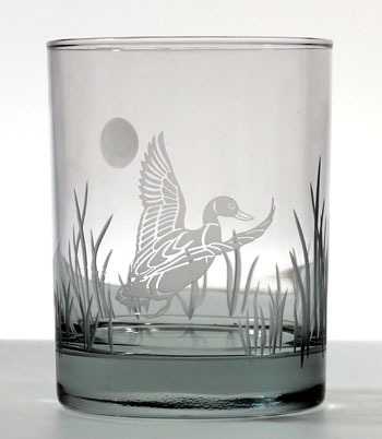 Etched Duck 14 oz. Double Old Fashioned