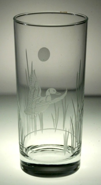 Etched Duck 15 oz. Highball/Water/Cooler