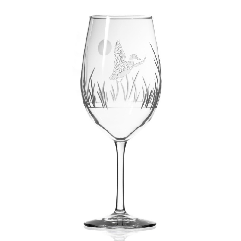 Etched Duck 12 oz. White Wine