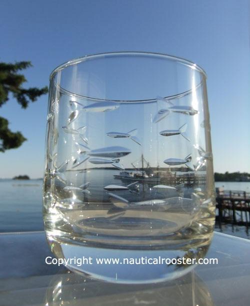 "Rolf School of Fish 10 oz. Juice Glass/Small Rocks Glass (""Room Tumbler"")"