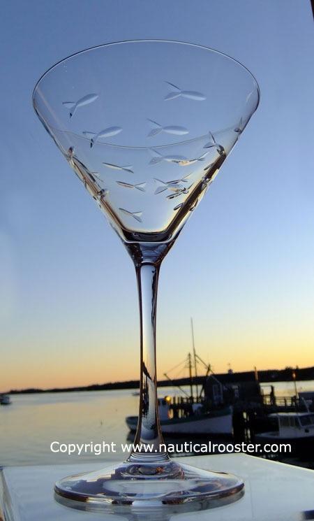 Rolf School of Fish 10 oz. Martini Glass