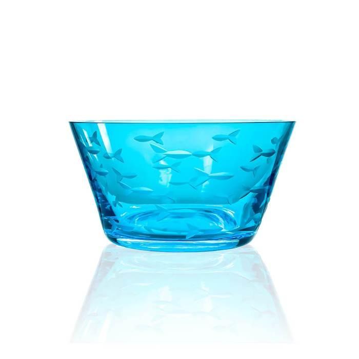 "Rolf School of Fish Blue Small Bowl (Dessert Bowl) (6"") SET OF 4"