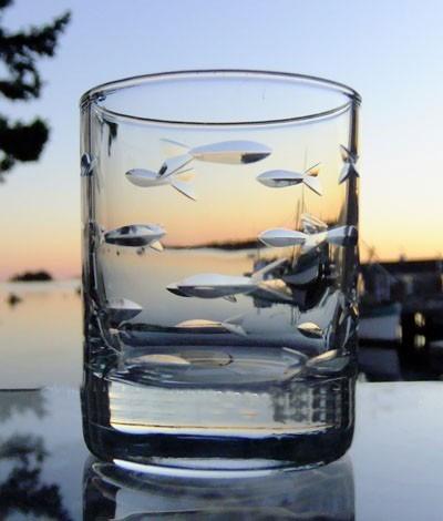"Rolf School of Fish  2.5 oz. Shot Glass (""Votive"")"