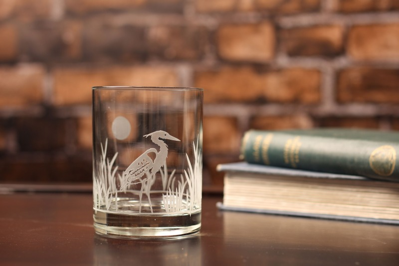 Rolf Etched Heron 14 oz. Double Old Fashioned