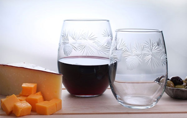 Rolf Icy Pine 17 oz. Stemless Wine