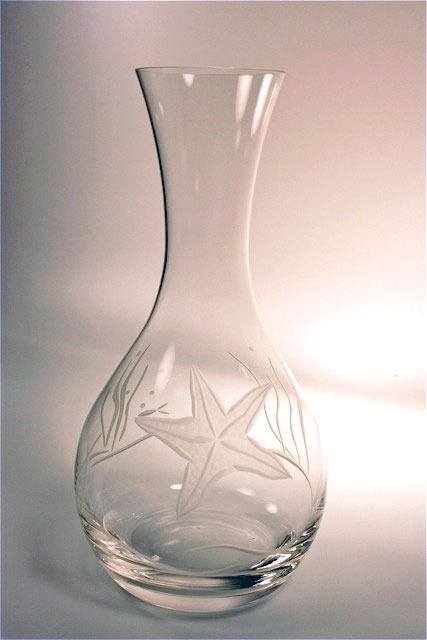 Etched Starfish Wine Carafe