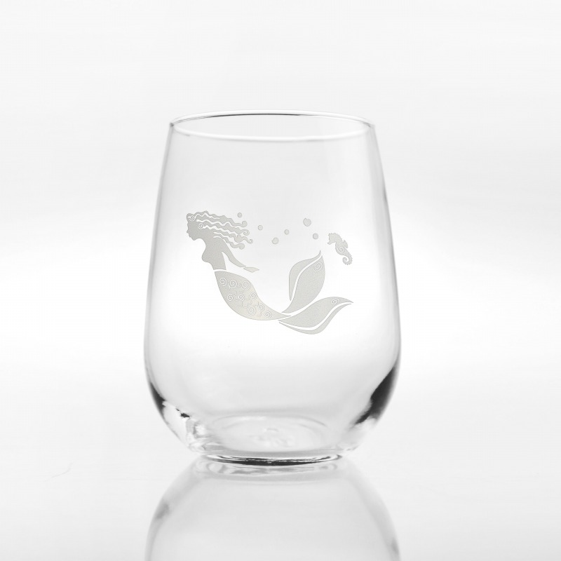 Mermaid 17 oz Stemless Wine