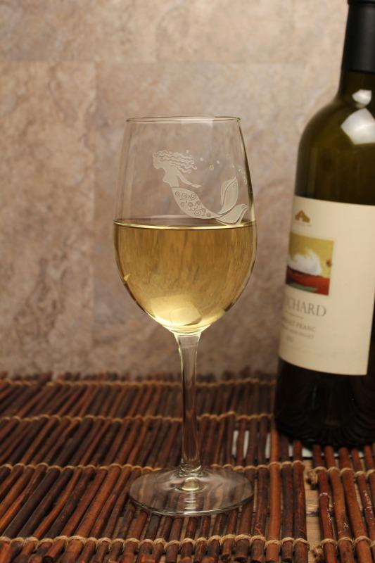 Mermaid White Wine Glass 12 oz