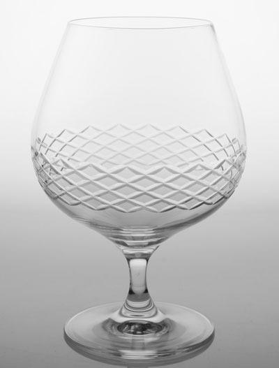 Rolf Etched Diamond Brandy Snifter 22.5 oz