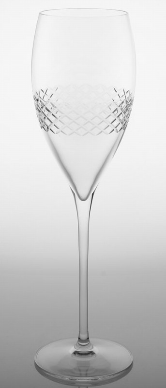 Rolf Etched Diamond Champagne Flute