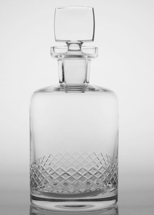 Rolf Etched Diamond Decanter 40 OZ.