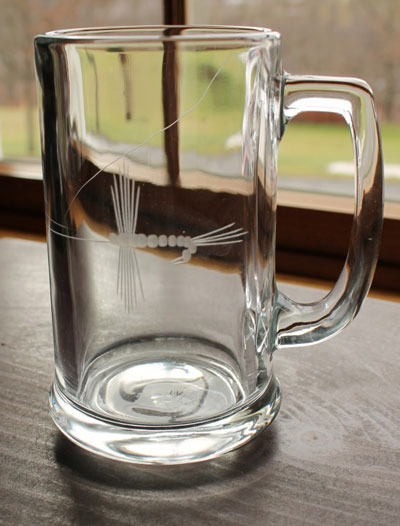 Rolf Etched Fly Fishing 19 oz. Beer Mug